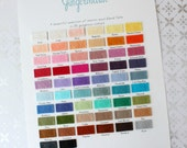 Gingermelon Merino Wool Blend Felt Colour Swatch Card
