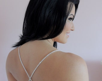 Rhinestone bra straps shoulder dress straps crystals alternative to clear straps