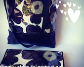 Marimekko Unikko Diaper Bag with Change Mat , baby bag