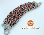 Kit Reiver Cross Multi Row Chainmaille Bracelet with Crystaletts