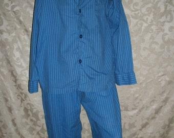 VIntage Mens Womens Boyfriend Pajamas Set Shirt and Long Boxers By Merona Size Large