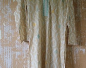 vintage.  Indian Yellow Cotton Long Tunic // Bohemian Chic   // S to M