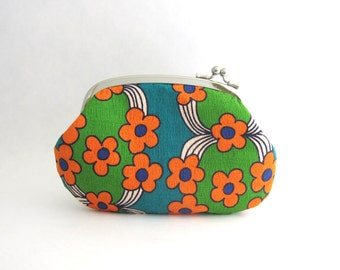 Frame Purse Wallet -retro flower sidelock purse