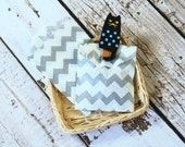 GREY Chevron Itty Bitty Bags small paper bags