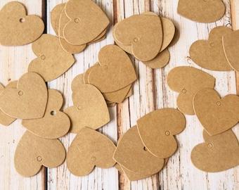 Mini HEART DIY Collection Kraft Tags 20pcs