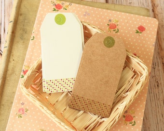 Bookmarks SPRING DOTS luggage hang Tags craft label