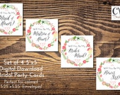 """Will You be My Bridesmaids / Will you be my Maid of Honor Cards / Set of 3 5""""x5"""""""