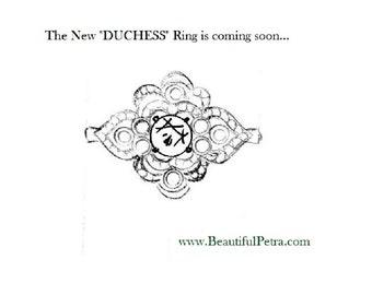 DUCHESS - Diamond Engagement or RIGHT Hand Ring 14K white gold -Asscher Cut - Round - Weddings- Brides - Bp0011