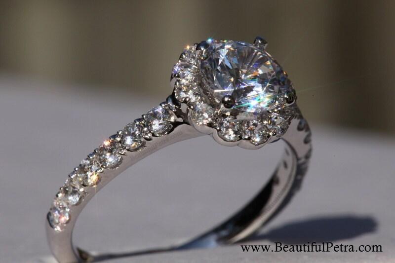 14k CUSTOM Made Diamond Engagement Ring Semi Mount Setting