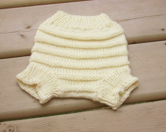 Hand Knitted Wool Cloth Diaper Cover Soaker Wool Nappy Cover  Baby Diaper Cover Knit Cloth Diaper MADE TO ORDER