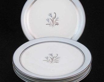 "Noritake Bluebell Bread & Butter/Dessert Plates(4) #5558~6-1/4"""
