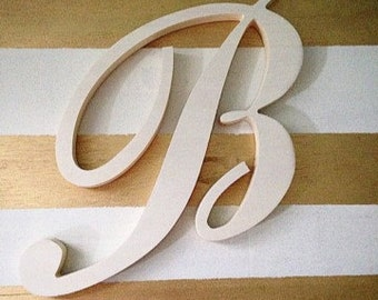 Unfinished wood letter, 36 inch unfinished monogram, thousands of fonts available