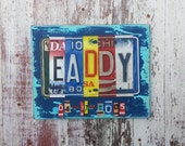 10th Wedding Anniversary Tin Aluminum Gift - 10 year wedding anniversary gift for man husband men License Plate Sign Name Word Personalized