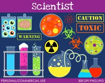 Scientist Clipart - Digital Clip Art Graphics for Personal or Commercial Use
