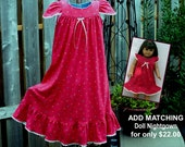 FREE SHIPPING/Size 8-girls,**Last One** 100% Cotton Knit Nightgown/LONG-Full Length //Ready to Ship //Mid-weight fabric (9oz)