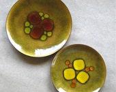 Annamarie Davidson Enamel Copper Glass Fused Dishes Mid Century Modern Housewares