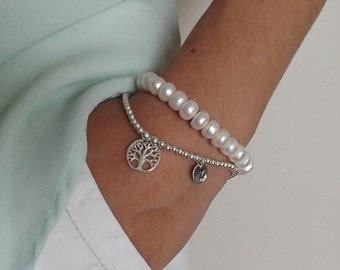 Sterling silver tree of life bracelet ,Family tree bracelet, Sterling Silver tree Bracelet,Tree of life Bracelet, tree charm