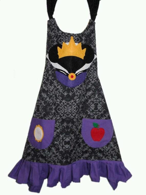 Disney Mickey Ears Evil Queen Apron Made to order by bellaliseDisney Evil Queen Ears