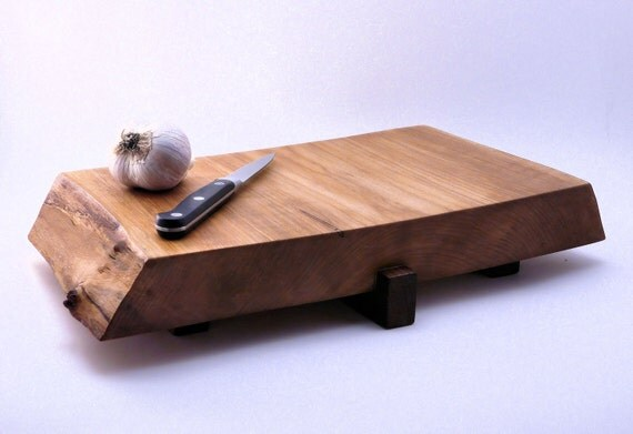 Wood Cutting Board / Serving Board / Cheese Tray, Maple and Black Walnut