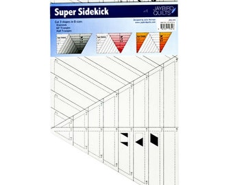 SUPER SIDEKICK Ruler - Jaybird Quilts - Diamonds Ruler - 60 Degree Triangle Ruler - Half Triangle Ruler - Quilter's Template