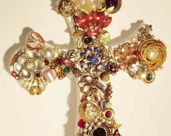 Jeweled Cross 6 x 9 inches
