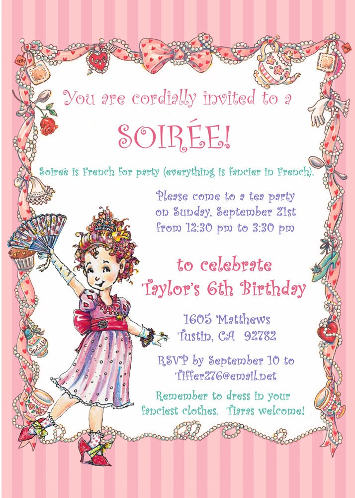 Fancy Nancy Party Invitation / DIY PRINTABLE / Birthday Tea