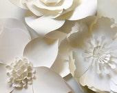 Paper Flower Wall Decor, large paper flower backdrop, giant paper flowers, paper flower backdrop, photo shoot props, paper flower decor