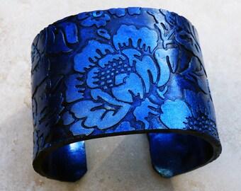 Sky blue  polymer clay cuff