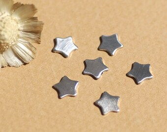 Sterling Silver Tiny Star 24g 6mm Cutout for Shapes Enameling Metal Blanks Shape Form - 925