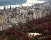 Fall In New York City Print, Central Park, Rustic, Autumn, Upper West Side, New York Photography
