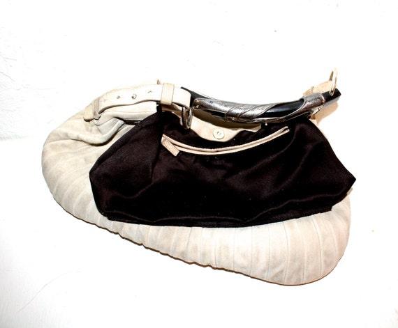 YVES SAINT LAURENT Vintage Beige Suede Handbag by StatedStyle