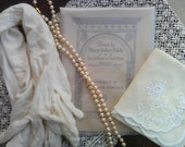 To the Opera, Vintage Gloves, Pearls, Hanky, Music Program, Vintage Dress Up, Vintage Lot