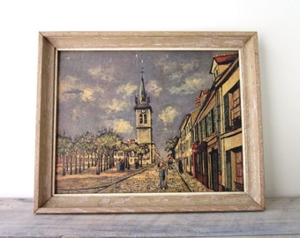 Vintage Paris Street Scene Framed Print