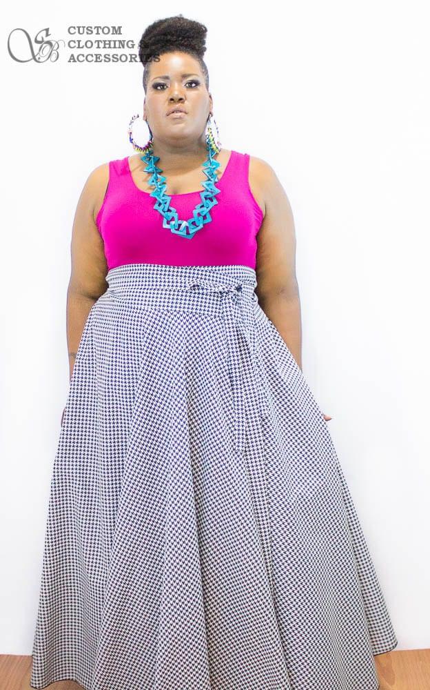 plus size high waist maxi skirt / women plus size high waist /