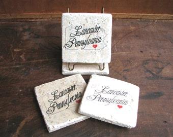 "Heart Lancaster, Pennsylvania Tile, 4""x4"""