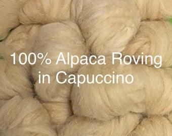 "100% Alpaca Roving in ""Magical"" Cappuccino!"