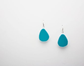 Small Turquoise Teardrop Earrings with Sterling Silver Earwire