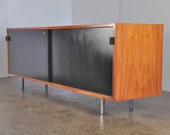 1950s Florence Knoll Walnut Credenza Sideboard Cabinet