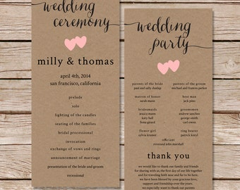 Fall wedding program | Etsy