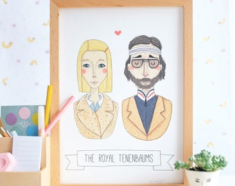 The Royal Tenenbaums A4 Print