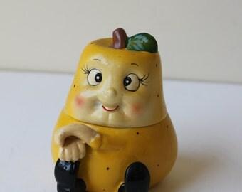 Vintage Anthropomorphic Pear Jam Jar