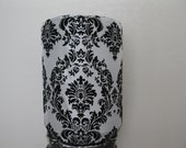 Black Damask- Bottle Cooler Decor for 5 Gallon Standard