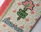 PERSONALIZED Composition Book - Country flower