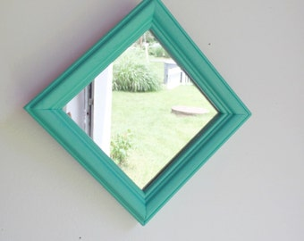 Small Teal Mirror