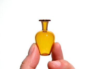 Miniature Glass Vase in Yellow