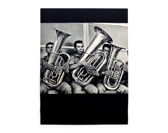 """Sheldon Brody """"Tubas"""" poster, c.1970. Graphic design education by Reinhold Visuals"""