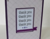 Many Thank Yous Purple Christian Thank You Card With Scripture