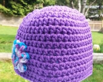baby girls crochet hat, beanie, crochet hats for girls, flower beanies, 6 to 12 weeks, hats, vegan friendly flower beanies 1248