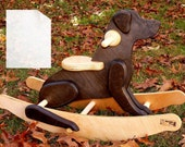 Rocking Black Labrador Retriever Dog DIY Full-Sized Paper Woodworking Plans