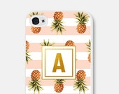 Gift for Women iPhone 5s Case - Personalized iPhone 6 Case - Personalized iPhone Case - Personalized Phone Case - Gold Monogram Pineapple